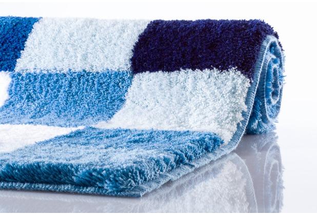 Kleine Wolke Badteppich Caro Royalblau 70 cm x 120 cm