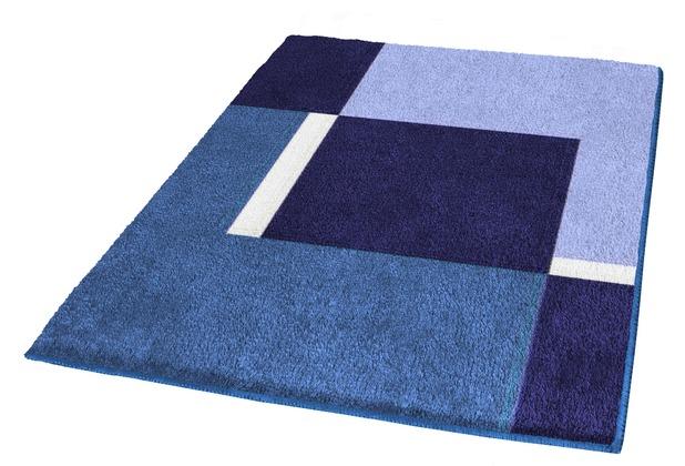 Kleine Wolke Badteppich Dakota Marineblau 55 cm x 55 cm WC-Vorleger mit Ausschnitt