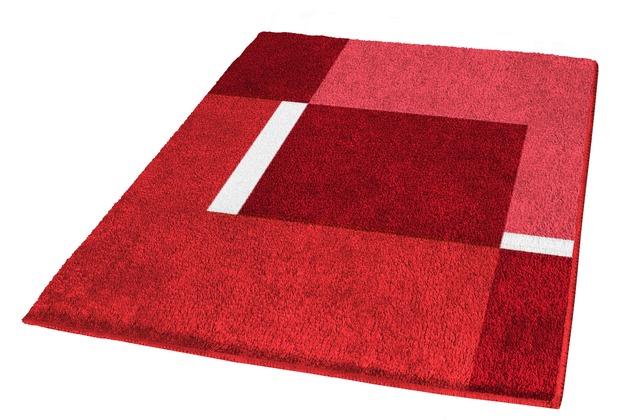 Kleine Wolke Badteppich Dakota Rubin 55 cm x 55 cm WC-Vorleger mit Ausschnitt