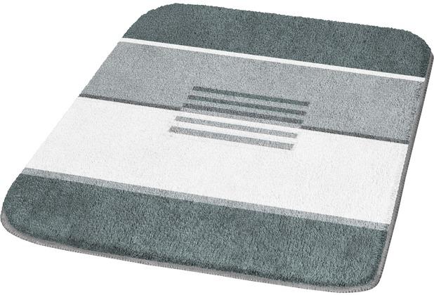 Kleine Wolke Badteppich Deco Schiefer 50 cm x 50 cm WC-Vorleger mit Ausschnitt