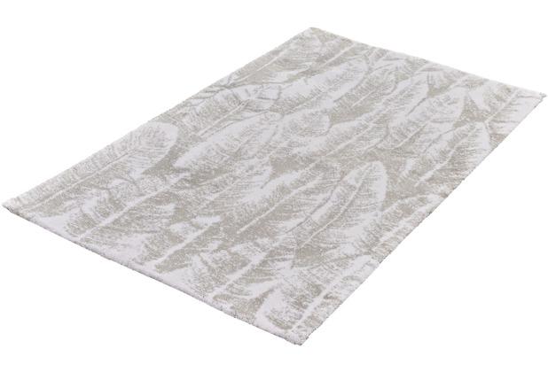 Kleine Wolke Badteppich Feather, Silbergrau 60x 60 cm