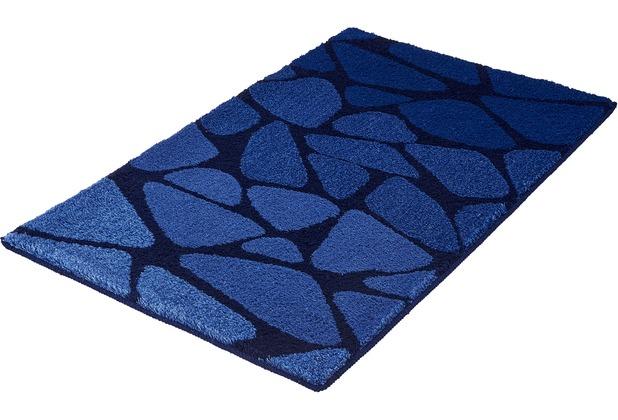 Kleine Wolke Badteppich Inspire Dunkelblau 60 cm x 100 cm