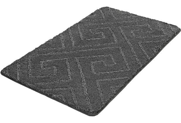 Kleine Wolke Badteppich Jenna, Schiefer 55x 65 cm