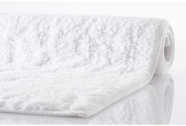 Kleine Wolke Badteppich Kansas Weiss 70 cm x 120 cm