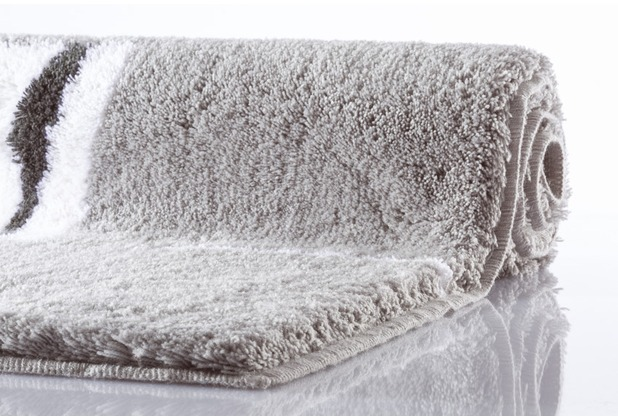 Kleine Wolke Badteppich Malaga Platin 70 cm x 120 cm