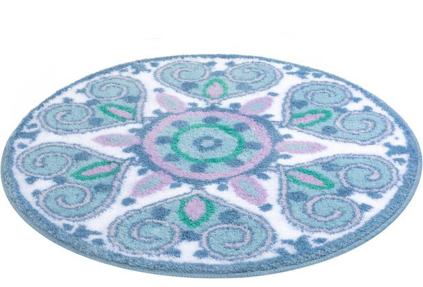 Kleine Wolke Badteppich Mandalay Multicolor 60 cm rund