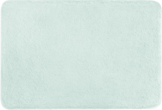 Kleine Wolke Badteppich Meadow Opal 55x55 cm WC-Vorleger mit Ausschnitt