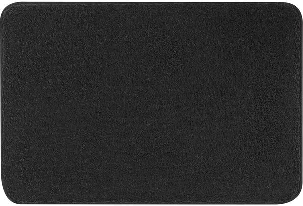 Kleine Wolke Badteppich Meadow Schiefer 55x55 cm WC-Vorleger mit Ausschnitt