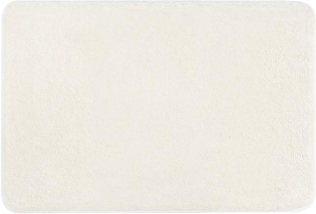 Kleine Wolke Badteppich Meadow, Weiß 55x55 cm WC-Vorleger mit Ausschnitt
