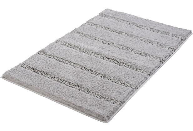 Kleine Wolke Badteppich Monrovia Platin 60 cm x 100 cm