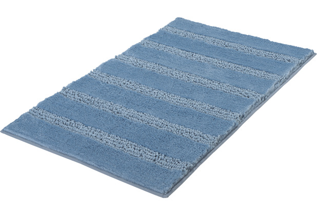 Kleine Wolke Badteppich Monrovia Stahlblau 60x100 cm