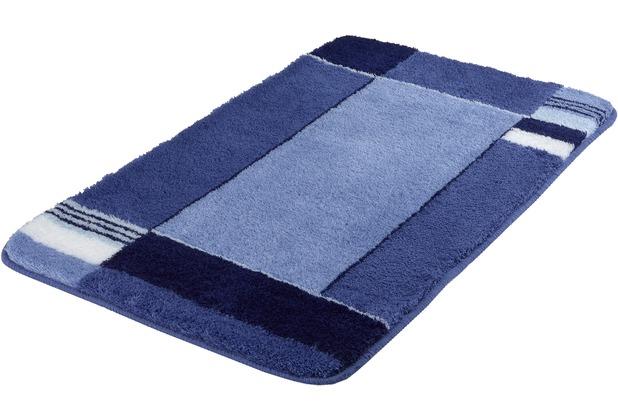 Kleine Wolke Badteppich Padova Marineblau 70 cm x 120 cm