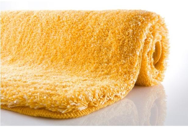 Kleine Wolke Badteppich Relax Goldgelb 47 cm x 50 cm Deckelbezug