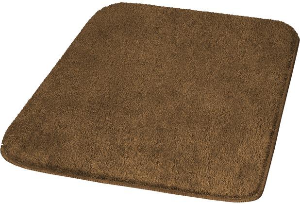 Kleine Wolke Badteppich Rumba Mahagoni 50 cm x 50 cm WC-Vorleger mit Ausschnitt