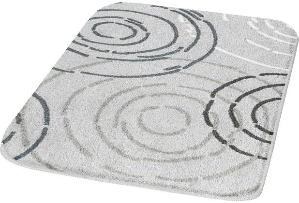 Kleine Wolke Badteppich, Splash, Nebel 50 x 50 cm WC-Vorleger mit Ausschnitt