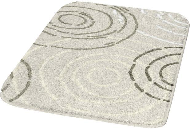 Kleine Wolke Badteppich Splash Seide 50 cm x 50 cm WC-Vorleger mit Ausschnitt