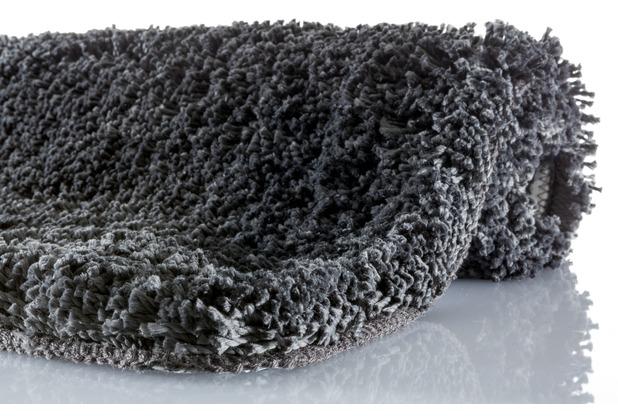 Kleine Wolke Badteppich Trend Schiefer 55 cm x 55 cm WC-Vorleger mit Ausschnitt