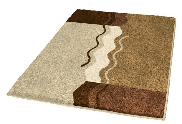 Kleine Wolke Badteppich, Vanessa, Rehbraun 55 x 55 cm WC-Vorleger mit Ausschnitt