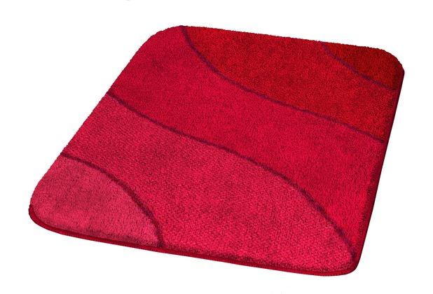 Kleine Wolke Badteppich Wave Rubin 55 cm x 55 cm WC-Vorleger mit Ausschnitt