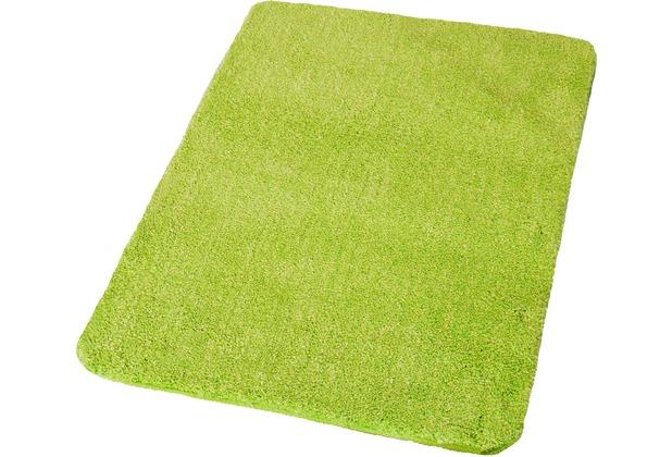 Kleine Wolke Badteppich Wilna Grün 55 cm x 55 cm WC-Vorleger mit Ausschnitt