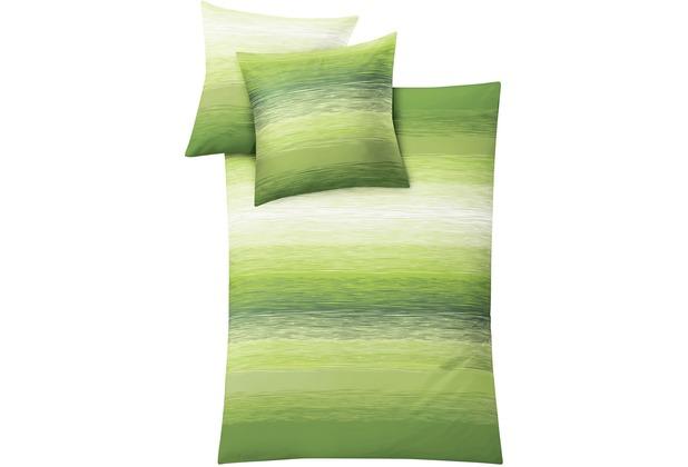 Kleine Wolke Bettwäsche Chicago Maigrün 135 cm x 200 cm & 80 cm x 80 cm
