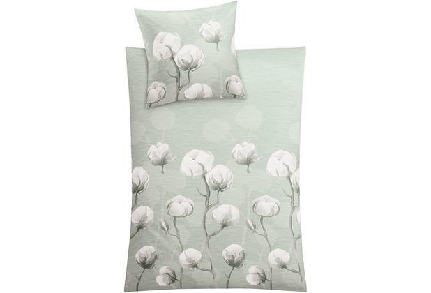 Kleine Wolke Bettwäsche Cotton schilf 135 cm x 200 cm & 80 cm x 80 cm
