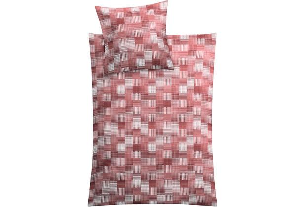 Kleine Wolke Bettwäsche Dany Rot 1x 155x220 / 1x 80x 80