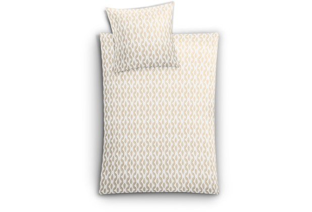 Kleine Wolke Bettwäsche Faro Sandbeige 135 cm x 200 cm & 80 cm x 80 cm