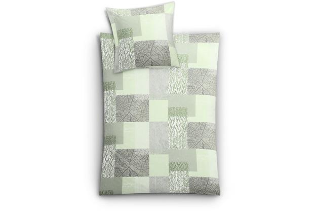 Kleine Wolke Bettwäsche Texture Alge 155 cm x 220 cm & 80 cm x 80 cm