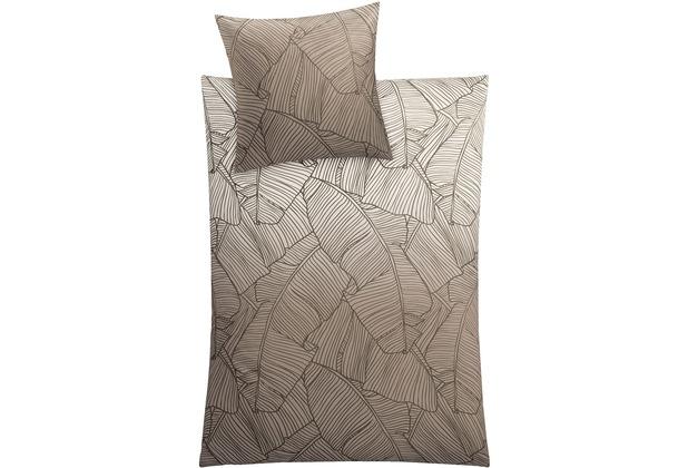 Kleine Wolke Bettwäsche Vero Taupe 135 cm x 200 cm & 80 cm x 80 cm