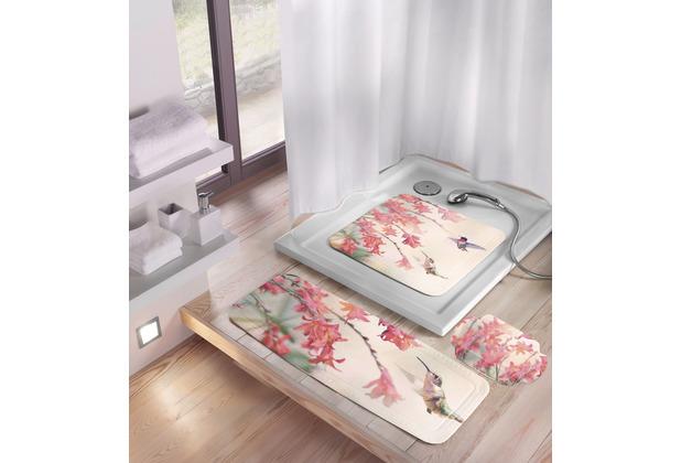 Kleine Wolke Dusch- & Wanneneinlage Kolibri Multicolor Duscheinlage 55x 55 cm