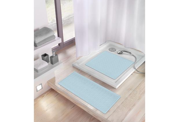 Kleine Wolke Duscheinlage Ruby Wasserblau 53x 53 cm