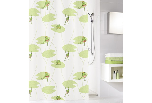 kleine wolke duschvorhang frog multicolor 180 x 200 cm breite x h he. Black Bedroom Furniture Sets. Home Design Ideas