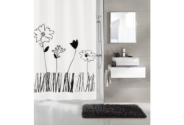 kleine wolke duschvorhang grace schwarz wei 180 x 200 cm breite x h he. Black Bedroom Furniture Sets. Home Design Ideas