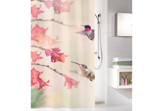 Kleine Wolke Duschvorhang Kolibri Multicolor 180x200 cm