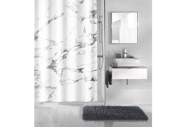Kleine Wolke Duschvorhang Marble Anthrazit 180 x 200 cm (Breite x Höhe)
