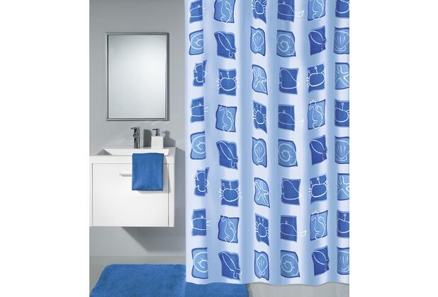 Kleine Wolke Duschvorhang Sealife Blau 180 x 200 cm (Breite x Höhe)