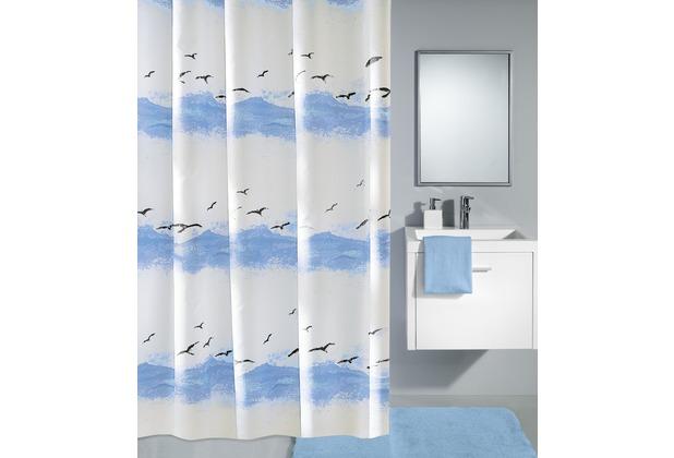 Kleine Wolke Duschvorhang Seaside Krokusblau 120 x 200 cm (Breite x Höhe)