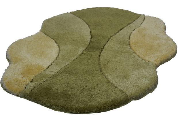 Kleine Wolke Badteppich Excelsior Klee 60 cm x 60 cm WC-Vorleger mit Ausschnitt