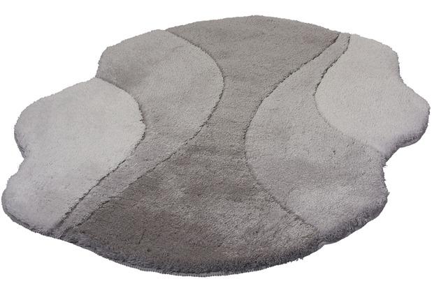 Kleine Wolke Badteppich Excelsior Platin 60 cm x 60 cm WC-Vorleger mit Ausschnitt