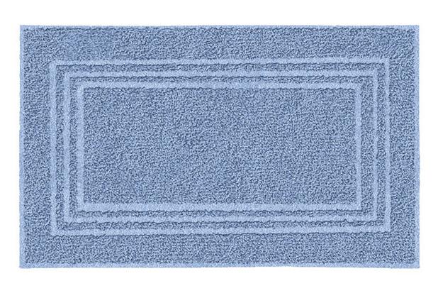 Kleine Wolke Frottier-Badvorleger Lodge Iceblue 50 cm x 80 cm