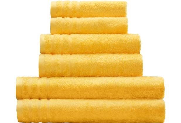 Kleine Wolke Handtuch Royal, Gelb 50 x 100 cm