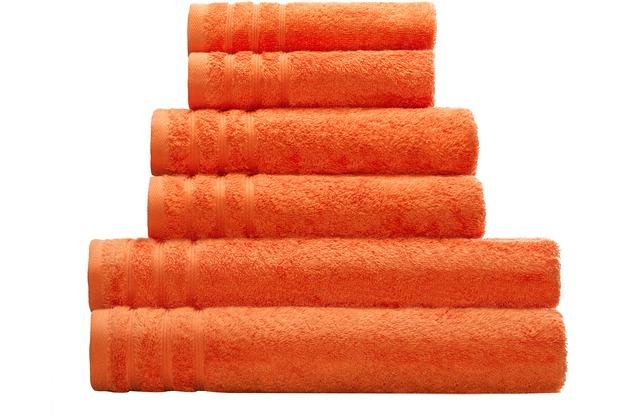 Kleine Wolke Handtuch Royal, Orange 50 x 100 cm