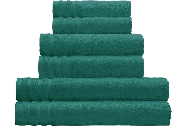 Kleine Wolke Handtuch Royal, Smaragd Duschtuch 70 x 140 cm