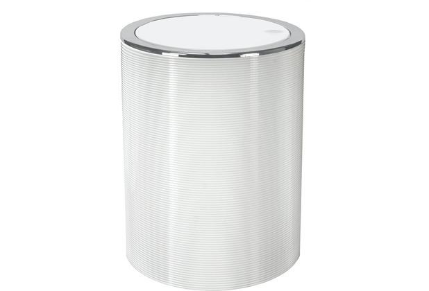 Kleine Wolke Kosmetikeimer Trace weiß 5 Liter 5 Liter