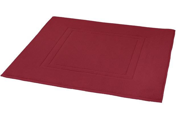 Kleine Wolke Badteppich Plaza Rot 80 cm x 60 cm