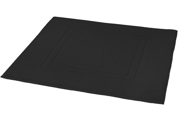 Kleine Wolke Badteppich Plaza Schwarz 80 cm x 60 cm
