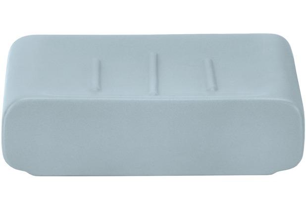 Kleine Wolke Seifenschale Cubic, Wasserblau 8,5x2,9x11,1