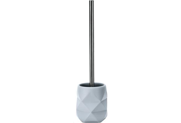Kleine Wolke WC-Bürstenhalter Crackle, Wasserblau 10,6x39x10,6