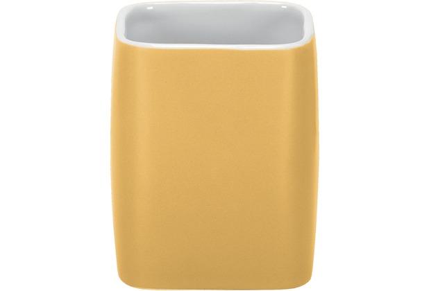 Kleine Wolke Zahnputzbecher Cubic, Mimose 9,1 x 7,4
